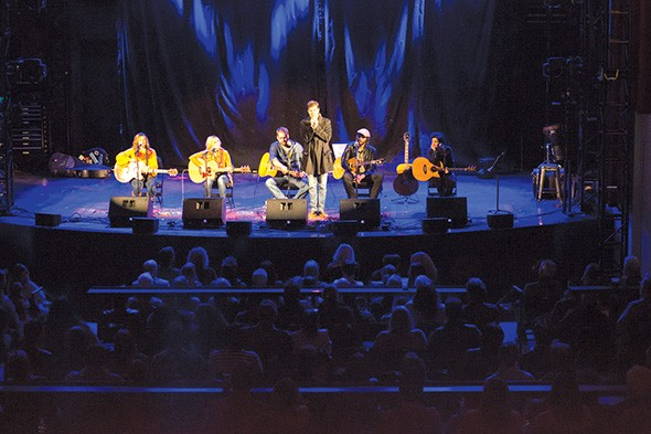 Zac Maloy introduces local songwriters at last year's Oklahoma Songwriters Festival. - PROVIDED