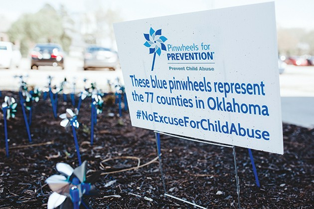 Businesses around the state, like Oklahoma County Juvenile Center, are planting pinwheel gardens, the official symbol of Prevent Child Abuse America. - ALEXA ACE