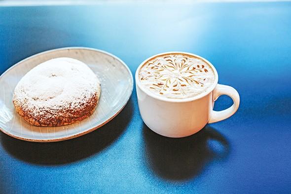 Mallorca bread and a latte at D Taino Bakery - ALEXA ACE