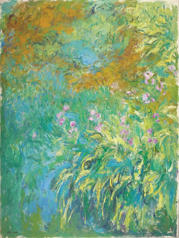 """""""Irises by the Pond"""" by Claude Monet - KATHERINE WETZEL / VIRGINIA MUSEUM  OF  FINE ARTS / PROVIDED"""