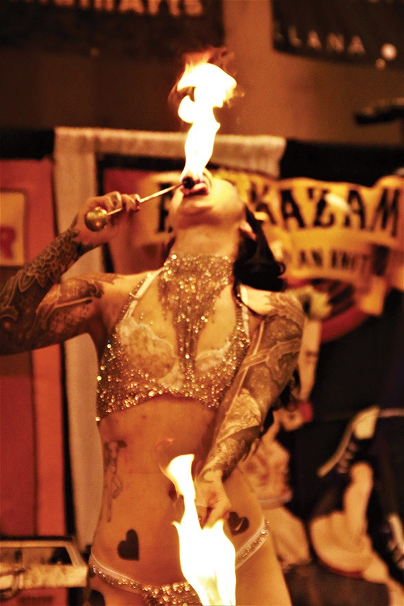 Sideshow and burlesque performers will be onstage during the three-day convention. - PROVIDED