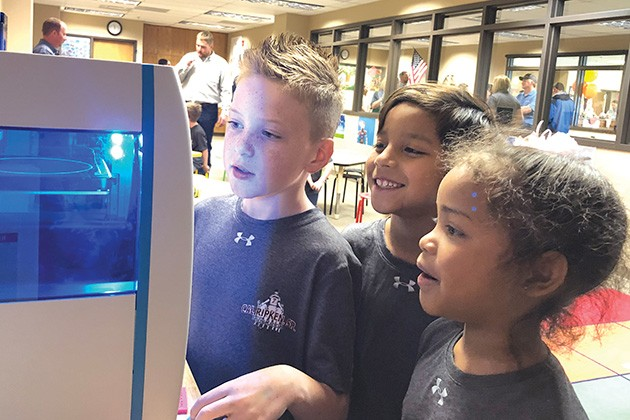 The Foundation for Oklahoma City Public Schools hopes to install STEM centers in all 33 elementary schools, providing students access to technology like 3D printers. - CAL RIPKEN, SR. FOUNDATION / PROVIDED