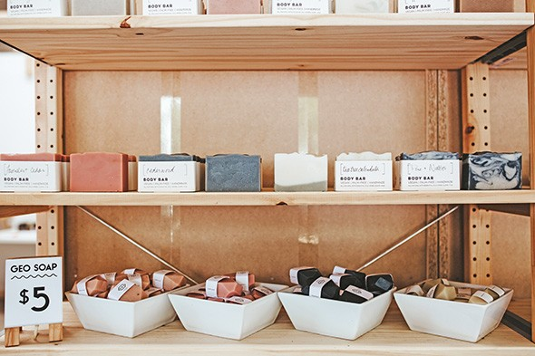 OKcollective carries soaps from Bell Mountain Naturals and Prairie Dust. - ALEXA ACE