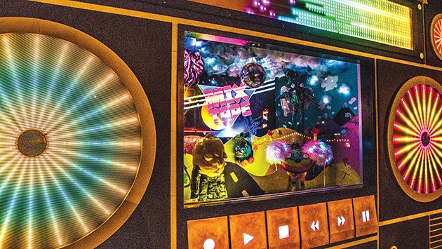 Phase one of Mix-Tape included a boom-box-inspired interactive shop window. Phase two expands the installation to about 6,000 square feet. - TODD E. CLARK /PROVIDED