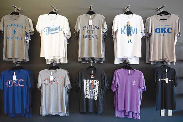 You and I Apparel + Gifts carries a variety of Oklahoma City Thunder shirts. - ALEXA ACE