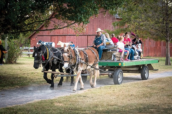 Haunt the Harn includes hayrides around the grounds. - PROVIDED