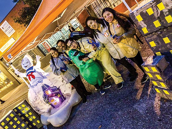 Calle Dos Cinco in Historic Capital Hill hosts Haunt the Hill to provide a safe environment for families to trick or treat. - PROVIDED