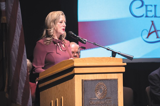 Rep. Kendra Horn was the guest speaker at a naturalization ceremony Nov. 8. - MIGUEL RIOS