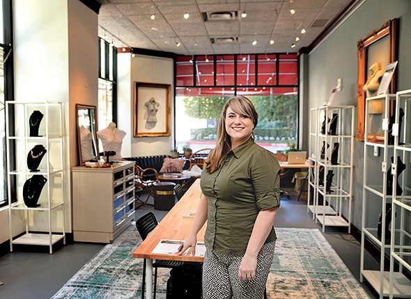 Jennifer Woods' jewelry collections inspired by Oklahoma's geophysical land regions are currently on display at The Skirvin Hilton Oklahoma City. - PROVIDED