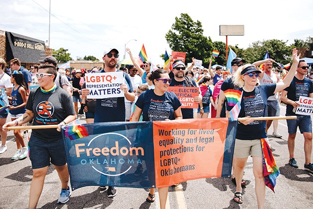 This year, Norman became the state's most inclusive city, Oklahoma City elected its first openly gay city councilor and Oklahoma City Pride Alliance hosted the largest Pride in state history. - STEPHANIE MONTELONGO / PROVIDED