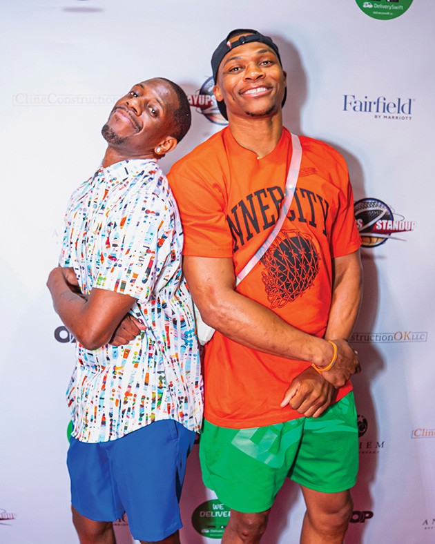 from left Deason poses with Why Not?'s other co-founder, former Oklahoma City Thunder point guard Russell Westbrook. - PROVIDED