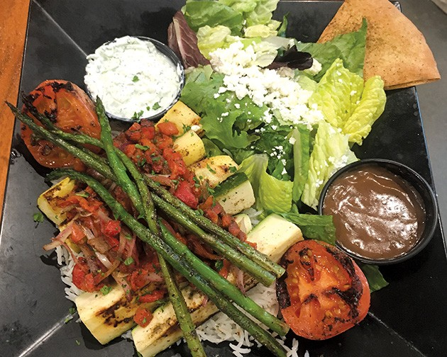 Grilled veggies are a top-seller at Taziki's in Edmond. - JACOB THREADGILL