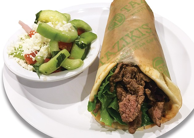 A lamb gyro is made with 100 percent lamb. - JACOB THREADGILL