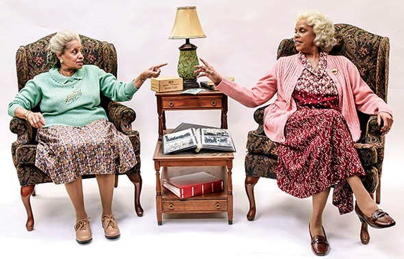 Julia Lema and Terry Burrell star as the Delany sisters, who recount stories from their more than 100 years on earth while cooking dinner live onstage. Having Our Say runs Feb. 19-March 8 at Lyric Theatre. - K. TALLEY PHOTOGRAPHY / PROVIDED