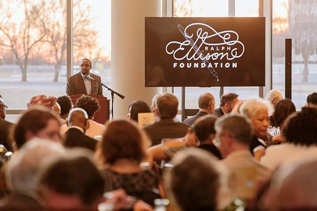 Michael Owens, Ralph Ellison Foundation executive director, speaks at the 2019 celebration gala. - PROVIDED