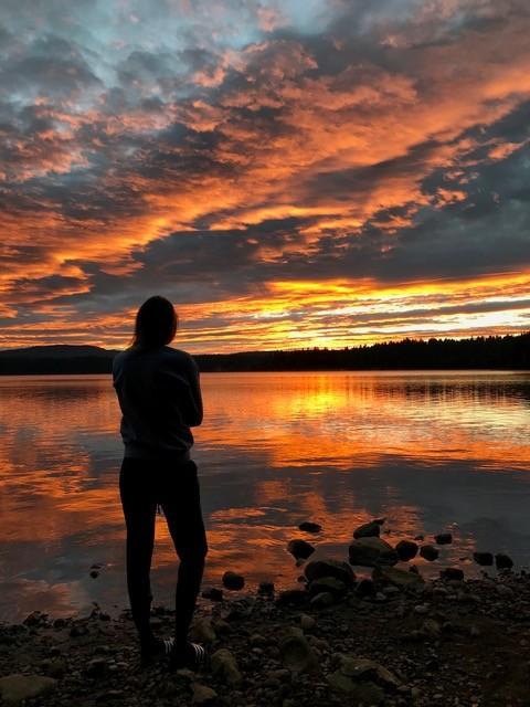 Sunrise at our campsite in Oregon