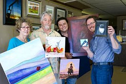 Four members of the family — Micah and his cousin Mark, plus Mark's parents, John and Mary Lou — have art in their upcoming group show Mix of Six.