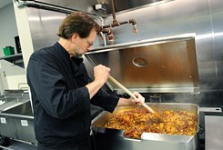 The pickings were slim in the pantry of The Homeless Alliance's WestTown Resource Center and Day Shelter as The Coach House chef Kurt Fleischfresser began planning the next day's lunch.