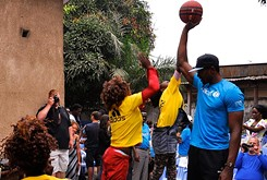 Oklahoma City Thunder's Serge Ibaka heads home with his Brazzaville-focused foundation.