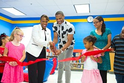 Thunder superstar Westbrook opens reading room at local school