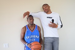 Russell Westbrook and his lifelong friend bring a fundraising comedy show to Tower Theatre Oct. 13