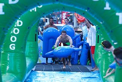 Slide the City helps people coast through the summer heat