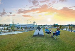 The Boathouse District makes 'roughing it' a little easier with its Urban Camping Adventure