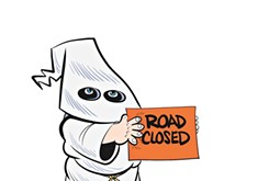 Chicken-Fried News: Road block