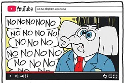Cartoon: No no no no elephant