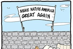 Cartoon: If Indian Territory had a wall ...