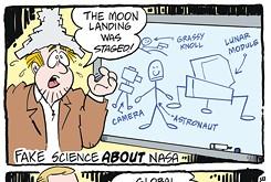 Cartoon: NASA fake science