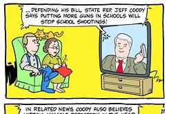 Cartoon: More guns in schools