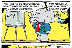 Cartoon: Vote on medical marijuana