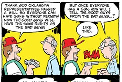 Cartoon: Bad guy with a gun