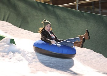 Snow tubing returns to Chickasaw Bricktown Ballpark with increased length and slope
