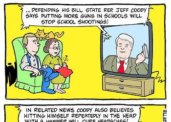 Cartoon: More guns in schools
