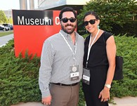 Taylor and Collette Fudge outside the OKCMOA after attending DeadCenter Events, 6-11-2015.  Mark Hancock