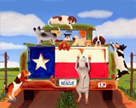 Rescue by Texas artist, Larry G. Lemons - Uploaded by cthc