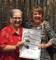 "Barbara ""Contest Queen"" Shepherd (L) with Editor/Publisher Marla F Jones (R) at OWFI Awards Cerimony - Uploaded by catherine"