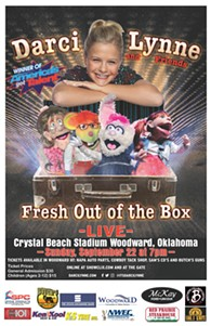 Come see Darci Lynne - Fresh Out of the Box and bring your kids to this all ages show! - Uploaded by Shea