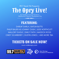 All ticket sales benefit the Opry Heritage Foundation of Oklahoma - Uploaded by Kelcie Lee