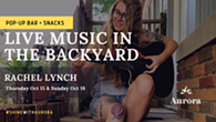 Live Music in the Backyard Presented by Aurora - with Rachel Lynch - Uploaded by nlowry