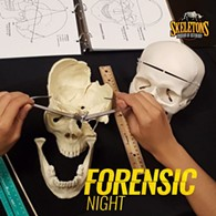 Solve the case!  Forensic Night at SKELETONS: Museum of Osteology - Uploaded by Osteomuseum