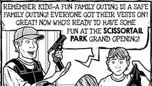 Cartoon: Sun's out, guns out