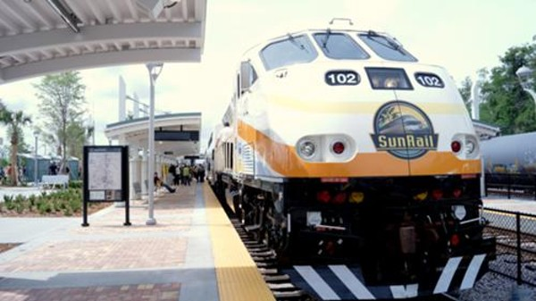 14 high speed shots of SunRail's grand opening