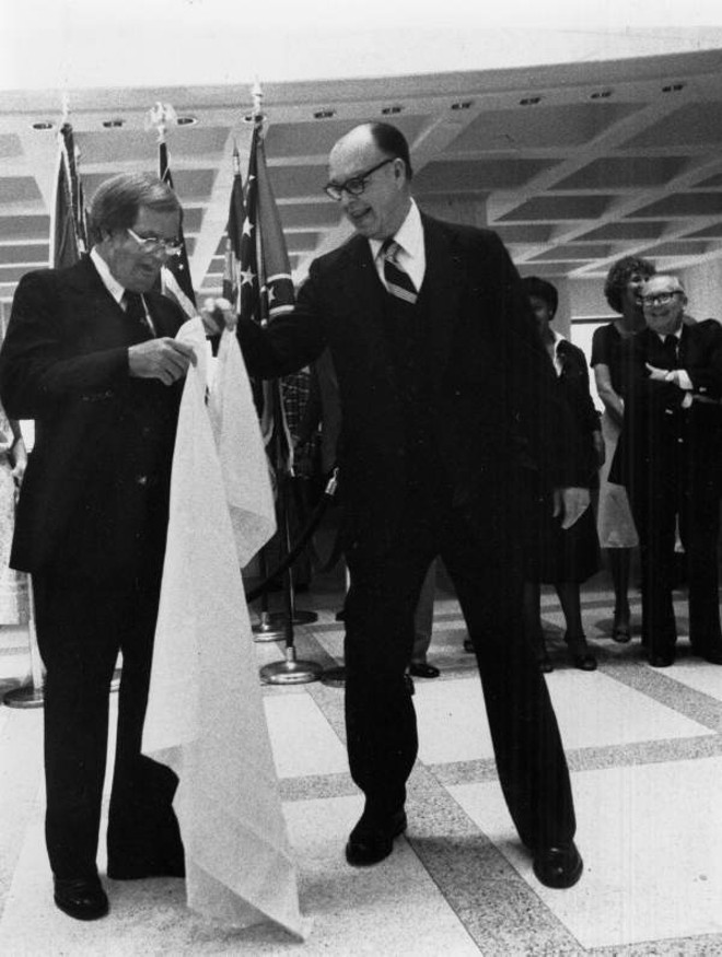 """1979 photo of the ceremonial """"sine die"""" dropping of the handkerchief signifying the end of the legislative session in Tallahassee. - VIA STATE ARCHIVES OF FLORIDA, FLORIDA MEMORY"""