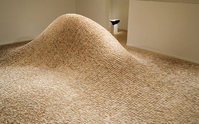 """2 x 4 Landscape,"" 2006, © Maya Lin, courtesy Pace Gallery. Photography by Colleen Chartier."