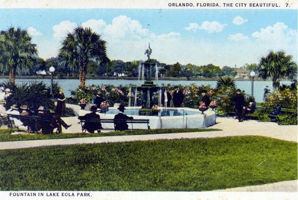 30 vintage postcards of old Orlando