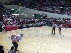 """A Bobby Knight classic from ABC's """"Wide World of Sublimation."""""""