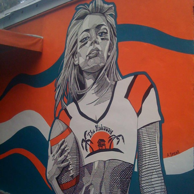 29 groovy pics of Andrew Spear's art - ANDREW SPEAR'S HIDEAWAY MURAL VIA THE HIDEAWAY BAR ON FACEBOOK